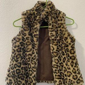 GAP reversible Faux Fur Vest M